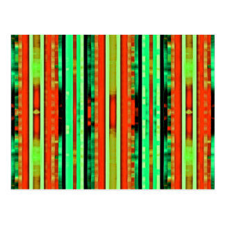 Bright Colorful Gradient Artsy Stripes Pattern Postcard