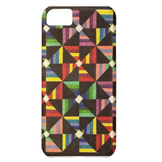 Bright, Colorful, Handmade Quilt Iphone Case Cover For iPhone 5C
