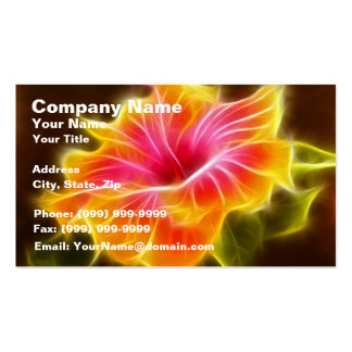 Bright Colorful Hibiscus Flower Business Card Templates