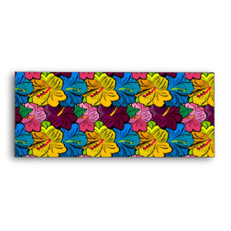 Bright Colorful Hibiscus Flowers Envelopes
