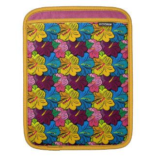 Bright Colorful Hibiscus Flowers iPad Sleeve