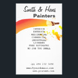 """Bright Colorful House Painter Artist Flyer<br><div class=""""desc"""">Custom artist house painter decorator business promotional flyer. Perfect marketing tool to help you promote and market your painting business business, services and products. Great flyer handout sample is waits for your custom touch for uniqueness and individuality! Change background colors, text and make it yours! Sophisticated classic design offers many...</div>"""