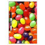 Bright colorful jelly beans dry erase white board