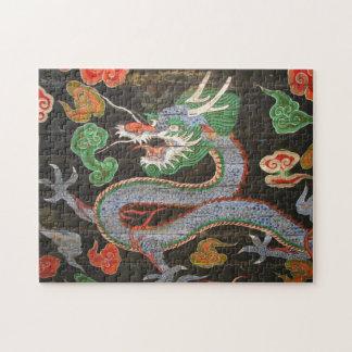 Bright Colorful Korea Asian Dragon Art Puzzle