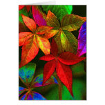 Bright colorful leaves card greeting cards