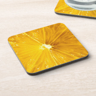 Bright Colorful Lemon Close Up Beverage Coaster