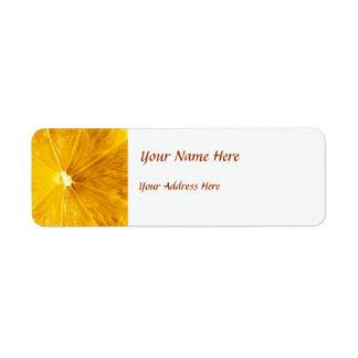 Bright Colorful Lemon Close Up Custom Return Address Labels