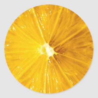 Bright Colorful Lemon Close Up Classic Round Sticker