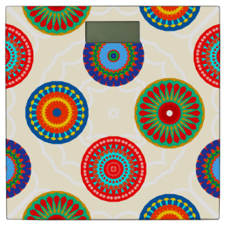 Bright Colorful Mandala Print Bathroom Scale