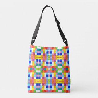 Bright Colorful Marker Original Geometric Artwork Crossbody Bag