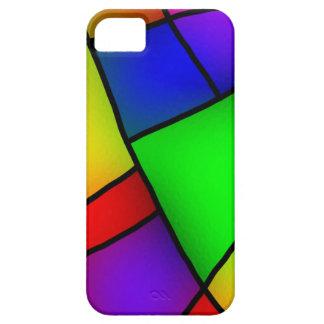 BRIGHT COLORFUL MODERN ART 112 FUN BACKGROUNDS TEM iPhone SE/5/5s CASE