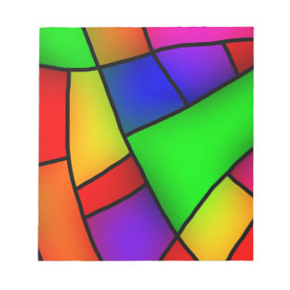 BRIGHT COLORFUL MODERN ART 112 FUN BACKGROUNDS TEM NOTE PAD