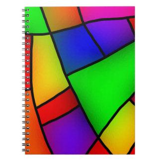 BRIGHT COLORFUL MODERN ART 112 FUN BACKGROUNDS TEM SPIRAL NOTEBOOK