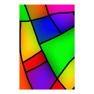 BRIGHT COLORFUL MODERN ART 112 FUN BACKGROUNDS TEM STATIONERY