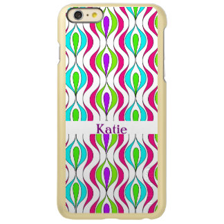 Bright Colorful Modern Fresh Patterned Incipio Feather Shine iPhone 6 Plus Case
