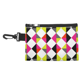 Bright Colorful Modern Geometric Diamond Pattern Accessories Bags
