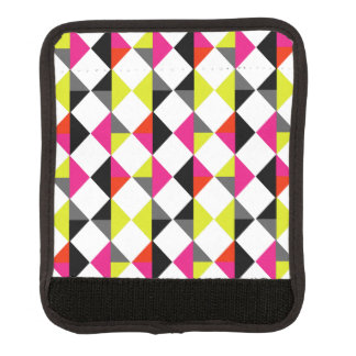 Bright Colorful Modern Geometric Diamond Pattern Luggage Handle Wrap