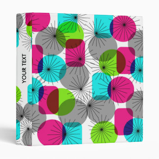 Bright Colorful Modern Geometric Pattern Binder