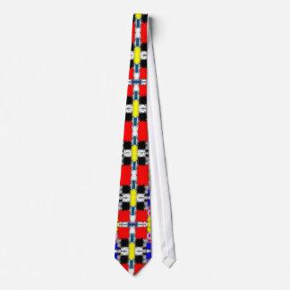 Bright Colorful Mondriaan inspired necktie