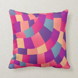 Bright Colorful Mosaic Geometric Throw Pillow
