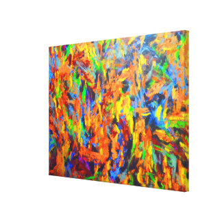 Bright Colorful Multicolor Abstract Art Painting Canvas Print