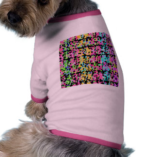 Bright Colorful Multicolored funky Artsy Pattern Pet Tshirt