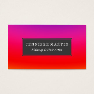 Bright Colorful Neon Gradient Business Card