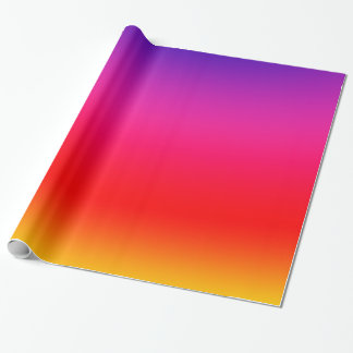 Bright Colorful Neon Gradient Wrapping Paper