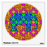 Bright Colorful Paisley Elephant Wall Sticker