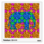 Bright Colorful Paisley Pattern Circus Elephant Room Graphic