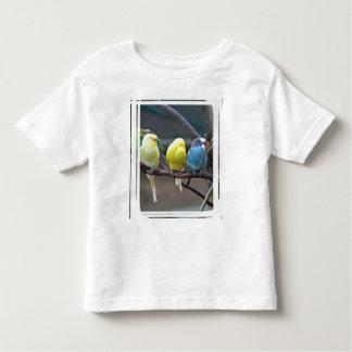 Bright Colorful Parakeets Budgies Parrots Birds Toddler T-shirt