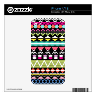 Bright Colorful Party Aztec Pattern iPhone 4S Decal
