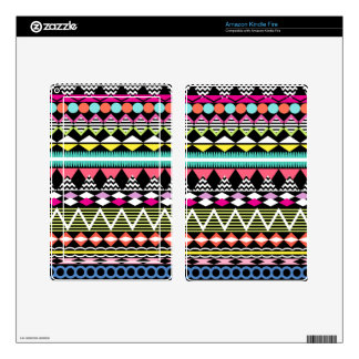 Bright Colorful Party Aztec Pattern Kindle Fire Skin