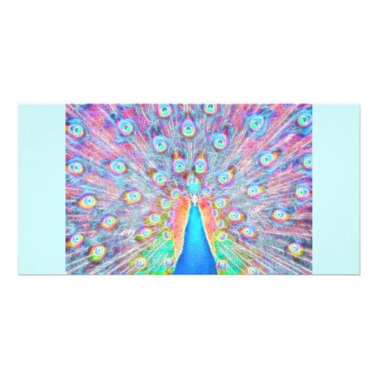 Bright Colorful *Peacock* Spirit Design Card