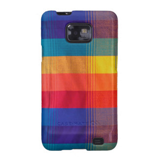 Bright & Colorful Plaid Fabric Android Case Galaxy S2 Case