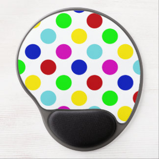 Bright Colorful Polka Dots Gel Mouse Pad