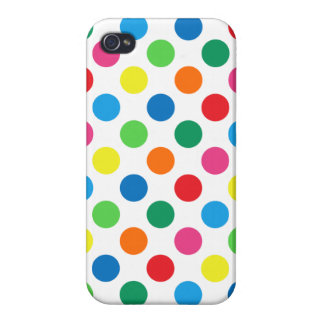 Bright Colorful Polka Dots iPhone 4/4S Cover