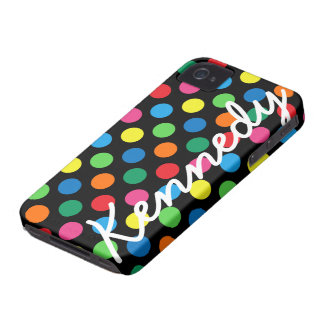 Bright Colorful Polka Dots iPhone 4 Cover