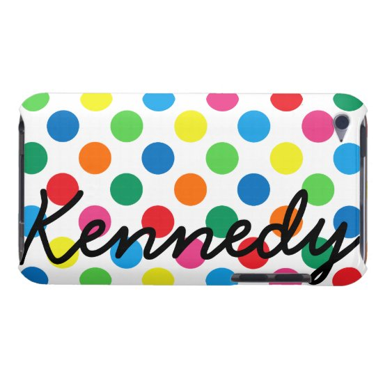 Bright Colorful Polka Dots iPod Touch Cover