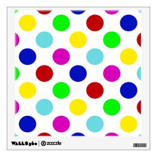 Bright Colorful Polka Dots Wall Sticker