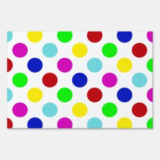 Bright Colorful Polka Dots Signs