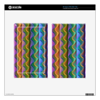 Bright Colorful Psychedelic Pattern Skin For Kindle Fire