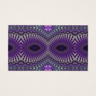 Bright Colorful Purple Silver Fractal Eye Mask Business Card