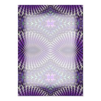 Bright Colorful Purple Silver Fractal Eye Mask Card