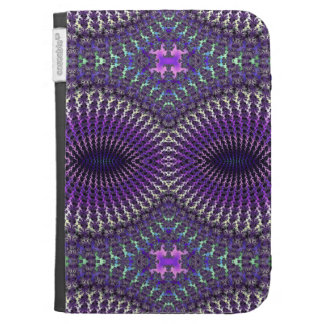 Bright Colorful Purple Silver Fractal Eye Mask Kindle 3G Cover