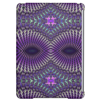 Bright Colorful Purple Silver Fractal Eye Mask Cover For iPad Air