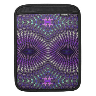 Bright Colorful Purple Silver Fractal Eye Mask Sleeve For iPads