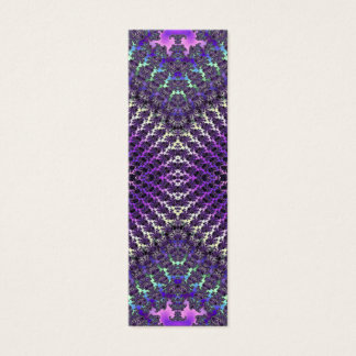 Bright Colorful Purple Silver Fractal Eye Mask Mini Business Card