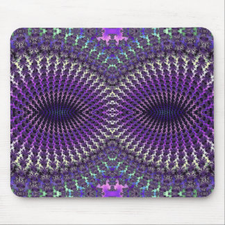 Bright Colorful Purple Silver Fractal Eye Mask Mousepads