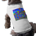 Bright Colorful purple yellow abstract art Dog T Shirt